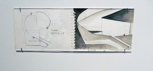 Holl's Initial Watercolor. Institute for Contemporary Art / Steven Holl Architects. Photo by ArchDaily