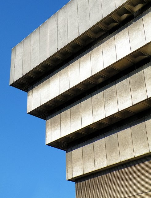 "Detail of Birmingham Central Library, which Prince Charles called ""an unmitigated Disaster."" Photo via Flicer CC User R~P~M"