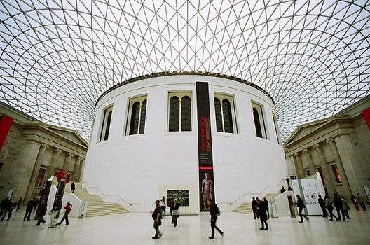 The Great Court of The British Museum, by Foster + Partners, an example of forward-thinking British Design that probably doesn't fit into Prince Charles' aesthetic tates.