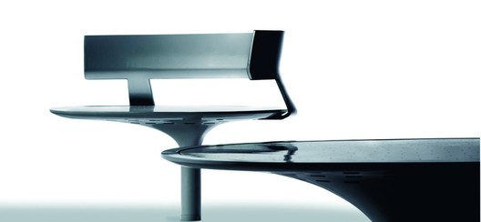 Ollie Small Seat and Stella Table, Courtesy of Gustafson Guthrie Nichol and Landscape Forms