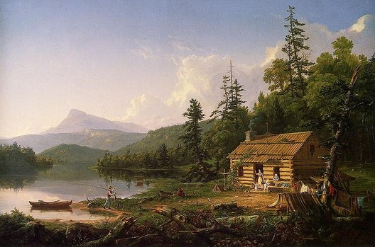 Thomas Cole (1801-1848), Home in the Woods, 1847, oil on canvas, via Wikipedia