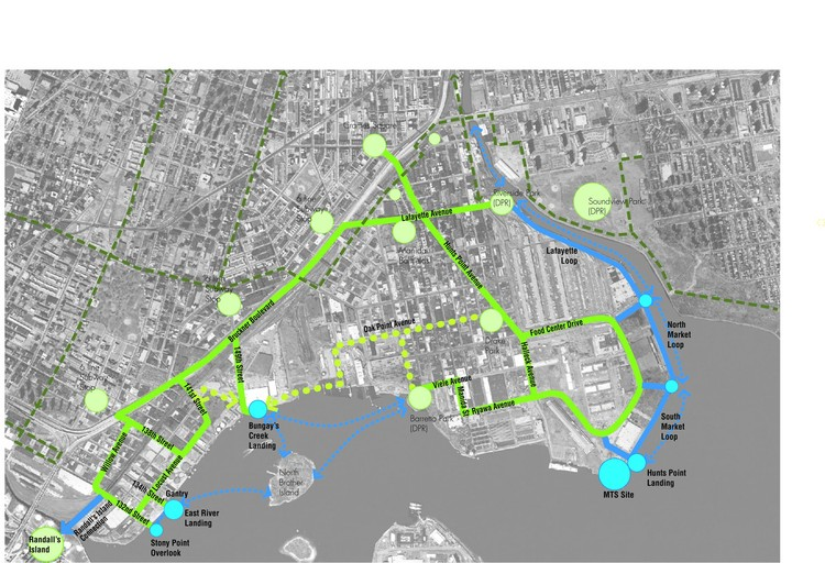South Bronx Greenway Long Term Plan; © New York City Economic Development Corporation