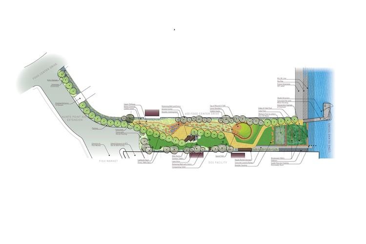 Hunts Point Landing Plan; © New York City Economic Development Corporation