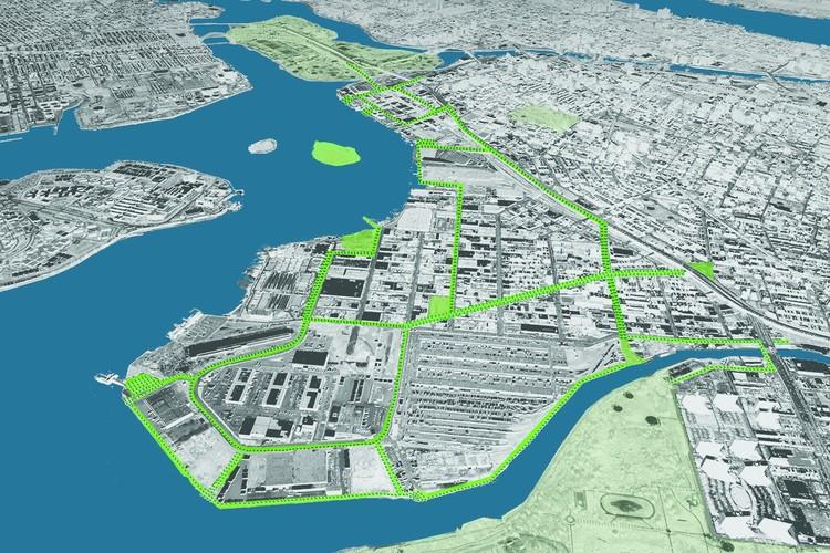 South Bronx Greenway Aerial Diagram; © New York City Economic Development Corporation