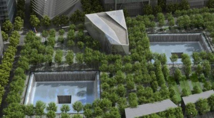 VIsualization of the 9/11 Memorial Plaza by Squared Design Lab. http://www.911memorial.org/