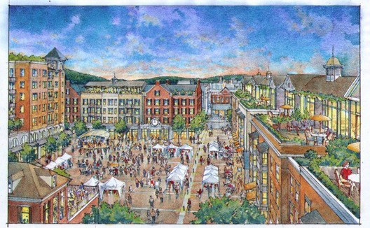The plans for Bristol's Piazza, around which the Bristol, CT community has rallied, thanks to the site BristolRising!