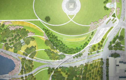 Cropped Site Plan - Courtesy of Weiss/Manfredi + OLIN