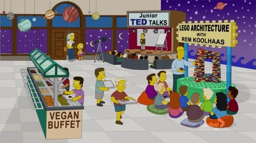As seen in The Simpons, Season 23, Episode 19. April 29, 2012.