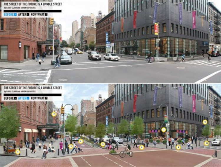 Turning a Street into a Complete Street. Part of GOOD's Livable Street Project. Photo via cooltownstudios.