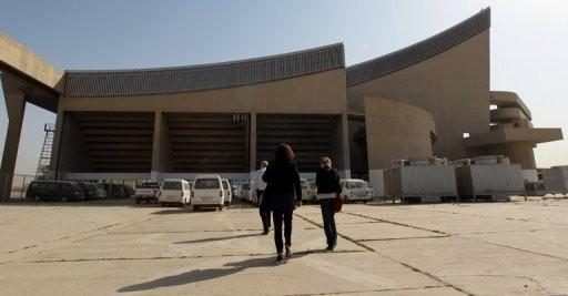 Baghdad Gymnasium, designed by Le Corbusier in 1957, built in 1982. © AFP