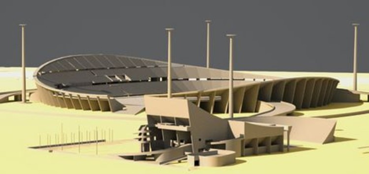 Le Corbusier's design for the Baghdad Gymnasium. © Iraq Art & Architecture's Facebook Page