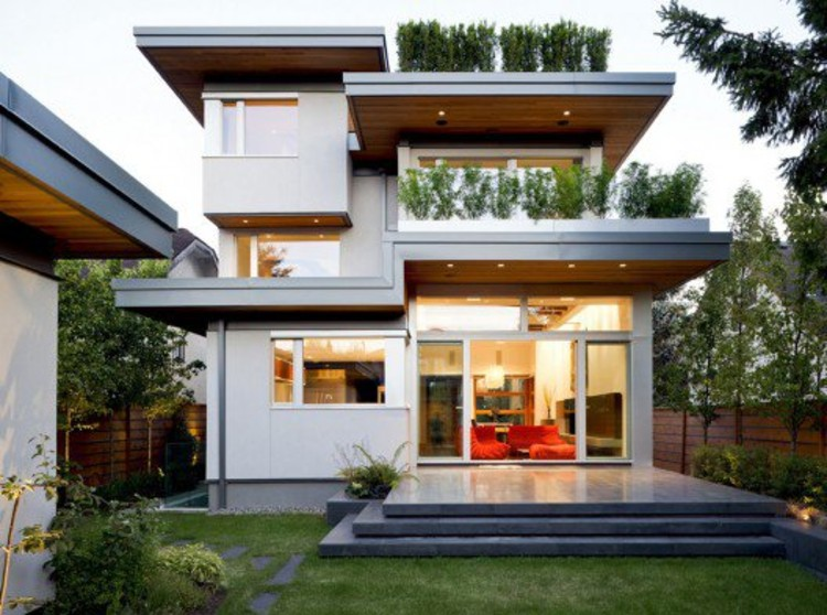 Kerchum Residence, the first LEED Platinum home in Western Canada, by Frits de Vries Architecture © Lucas Finlay