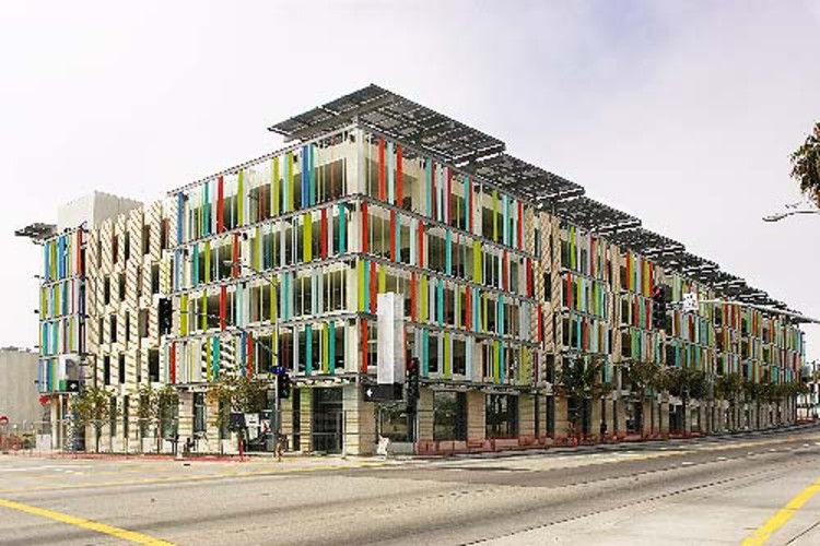 A LEED Certified, solar-powered parking garage. Found via TreeHugger. Photo © Wendi Marafino.