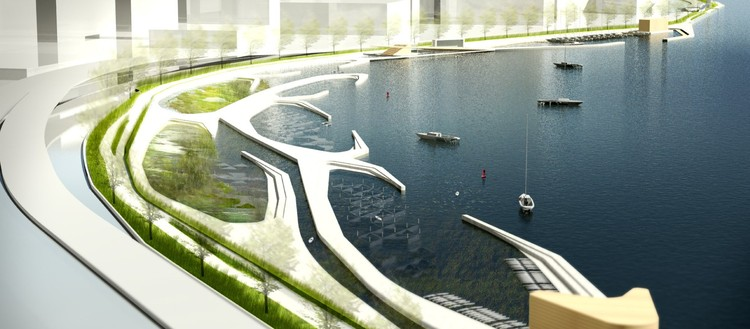 Second Place / Takuma Ono and Darina Zlateva; Courtesy of Civitas - Reimagining the Waterfront