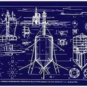 4.Buckminster Fuller and Chuck Byrne; Undersea Island-Submarisle, United States Patent Office no. 3,080,583, from the portfolio Inventions: Twelve Around One, 1981; screen print on polyester film; 30 x 40 in. (76.2 x 101.6 cm); Collection SFMOMA, gift of Chuck and Elizabeth Byrne; © The Estate of R. Buckminster Fuller, All Rights reserved. Published by Carl Solway Gallery, Cincinnati.