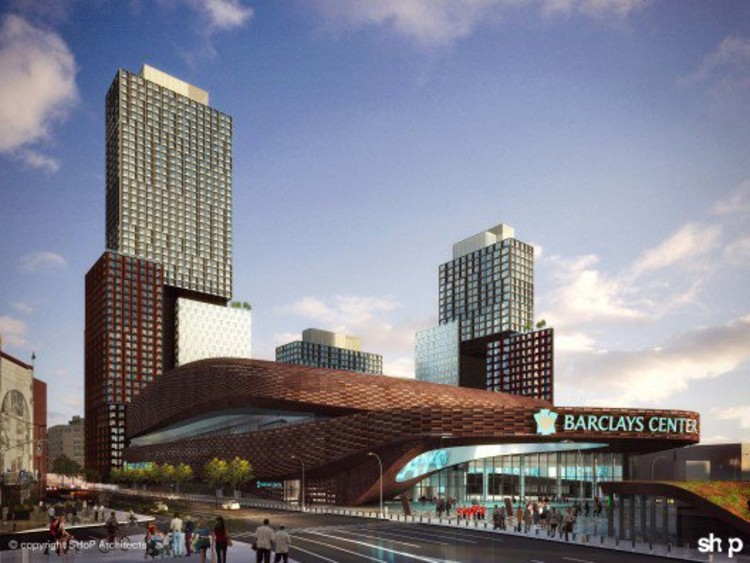 SHoP took over plans from Frank Gehry for Brooklyn's Atlantic Yards, due in part in backlash to Gehry's design and Nicolai Ouroussoff, the NYTimes Critic who initially lauded the plans.