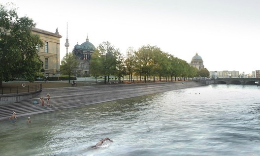 BRONZE: View of pool area towards Dom, Lustgarten and Castle. © Holcim Foundation