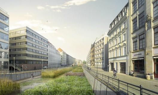 BRONZE: View of filter basin along Friedrichsgracht. © Holcim Foundation