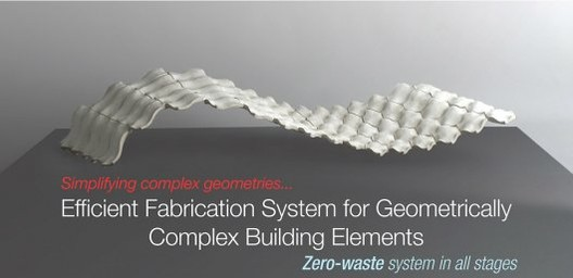 Global Holcim Innovation 3rd prize 2012: Efficient fabrication system for geometrically complex building elements, London, UK © Holcim Foundation