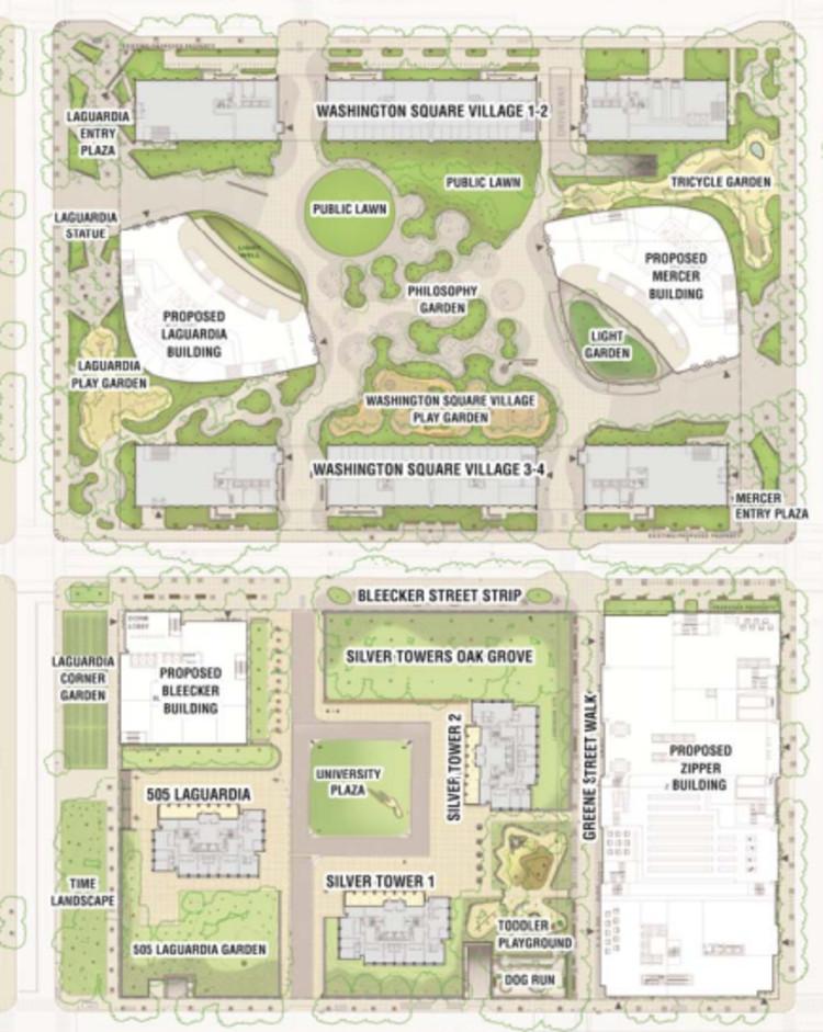 Proposed Superblocks, Part of the NYU 2031 Expansion plan © NYU
