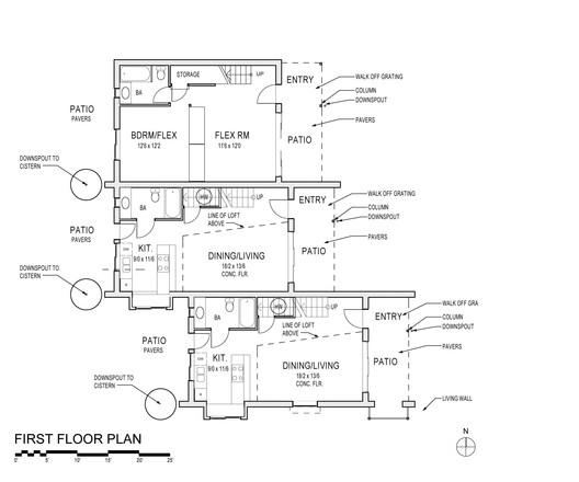 Plan 1.1 | Courtesy of David Vandervort Architects