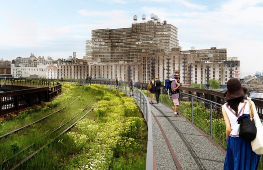 Interim Walkway at the Western Rail Yards. James Corner Field Operations and Diller Scofidio + Renfro. Courtesy City of New York and Friends of the High Line