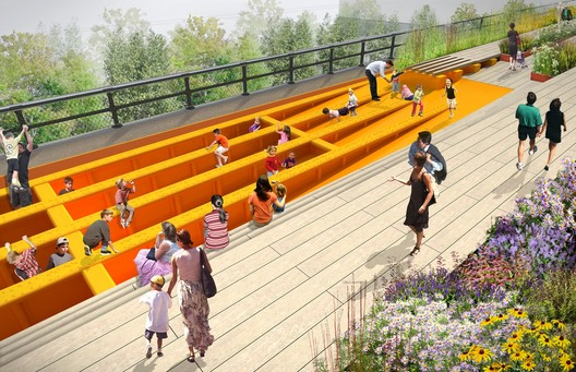 Children's Play Beams. James Corner Field Operations and Diller Scofidio + Renfro. Courtesy City of New York and Friends of the High Line