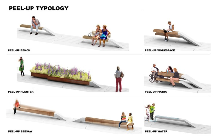 Peel-Up Design Elements. James Corner Field Operations and Diller Scofidio + Renfro. Courtesy City of New York and Friends of the High Line