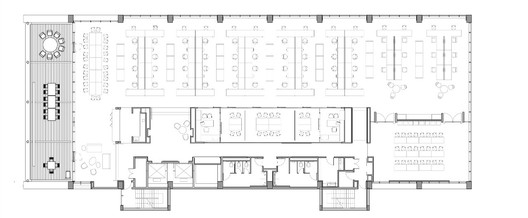 Typical Perkins + Will Open Office Floor Plan ( Terrace Level ) - Courtesy of Perkins + Will