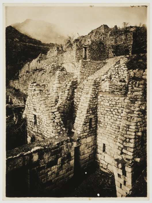 Martín Chambi, Partial view of the King's Group showing the courtyard, Macchu Picchu, Peru, 1927. CCA Collection © Archivo Fotografico Martín Chambi