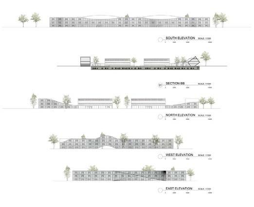 © Haiko Cornelissen Architecten - elevations & section
