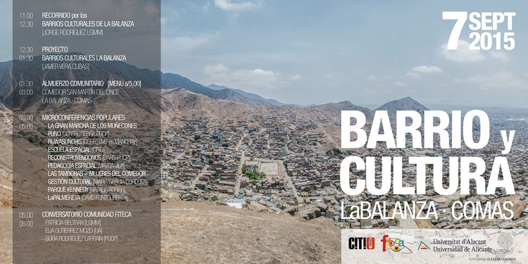 """Foro """"Barrio y Cultura"""" en La Balanza, Comas, vía CITIO Ciudad Transdisciplinar"""