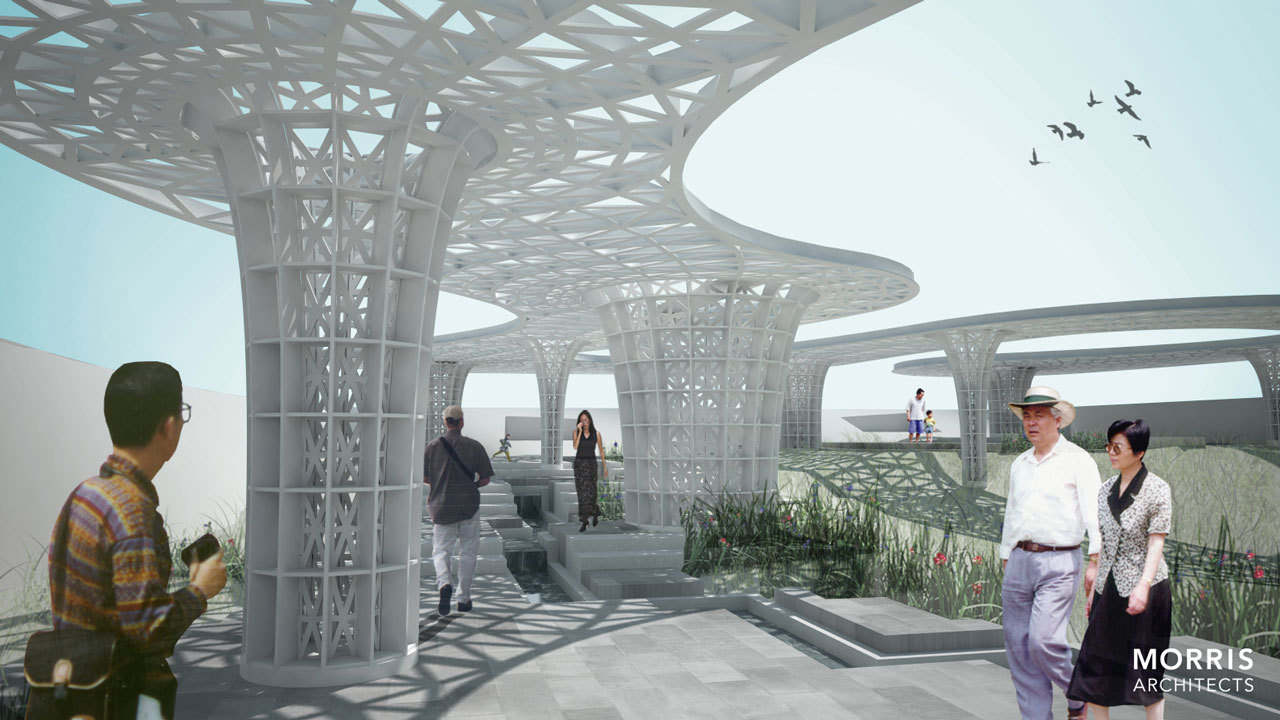 gallery of houston pavilion / morris architects - 8