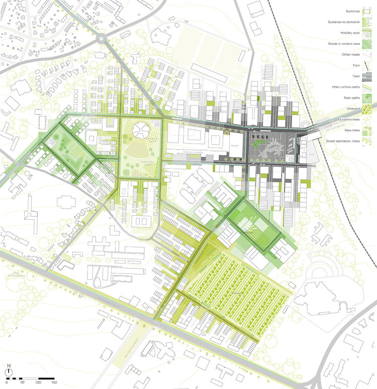 Europan 11 proposal 39 multitalented city 39 pupa archdaily for Site plan drawing online