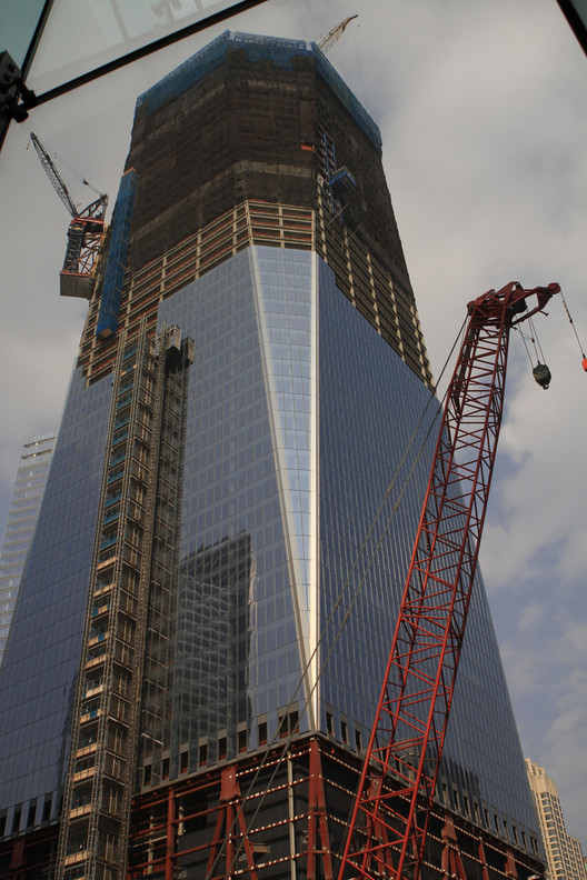 Construction at 1 WTC, by ShinyThings VIA Flickr. Used under <a href='https://creativecommons.org/licenses/by-sa/2.0/'>Creative Commons</a>