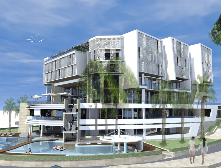 Ulcinj montenegro hotel ital design arco projekt for Design hotels arena