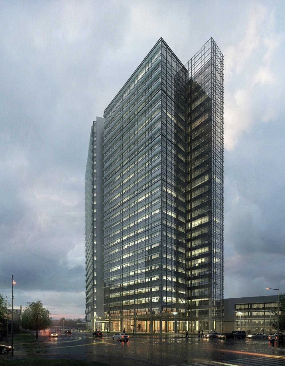 Rmjm design vista center leed platinum office building for Leed building design