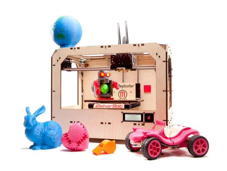 The MakerBot Repliactor, a personal 3D Printer. Photo via MakerBot.