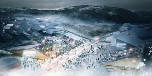 Greenland Migrating / Illustration Courtesy of Henning Larsen Architects