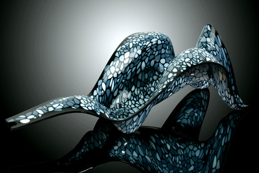 Beast, a chair designed by Neri Oxman, that responds to the individual's body weight.