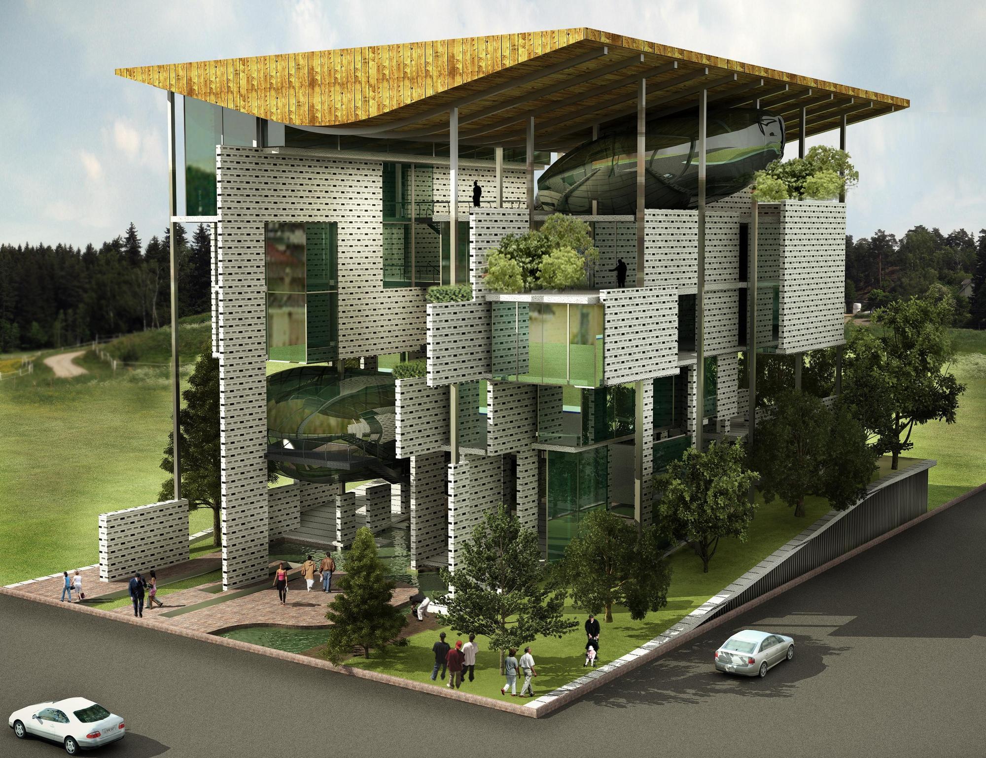 Gallery of office complex for delhi pollution control for Spaces architecture studio delhi