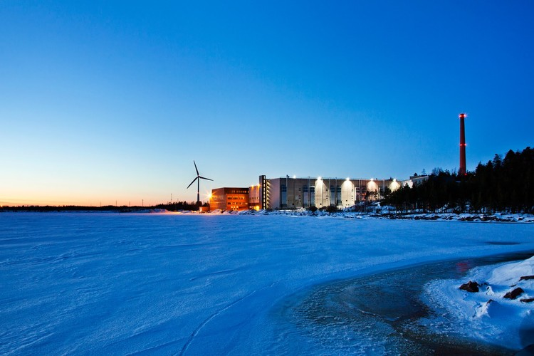 "Google's Data Center in Hamina, Finland: ""A beautiful landscape forms during winter in Finland, as the gulf ices over and creates a picturesque view."" Photo © Google/Connie Zhou"