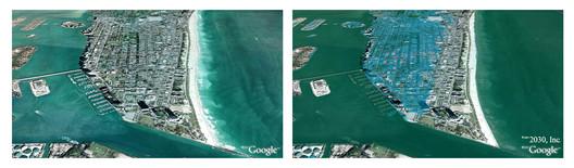 Miami, Florida © Architecture 2030 / Google Maps