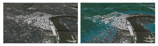 New Orleans, Louisiana © Architecture 2030 / Google Maps