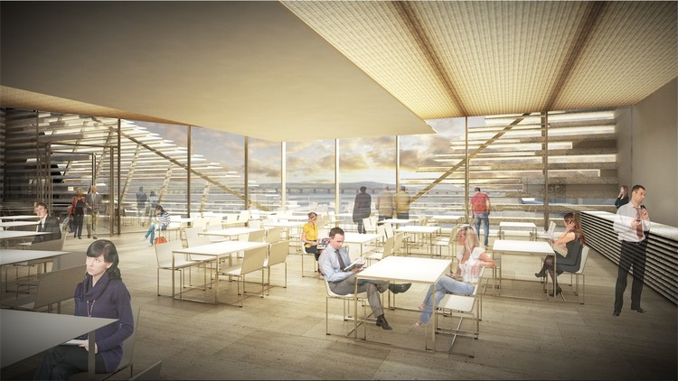 View of the river Tay from the restaurant © Kengo Kuma & Associates