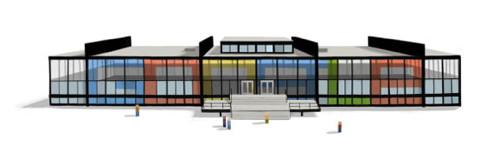 Mies Google Doodle, Crown Hall © Google