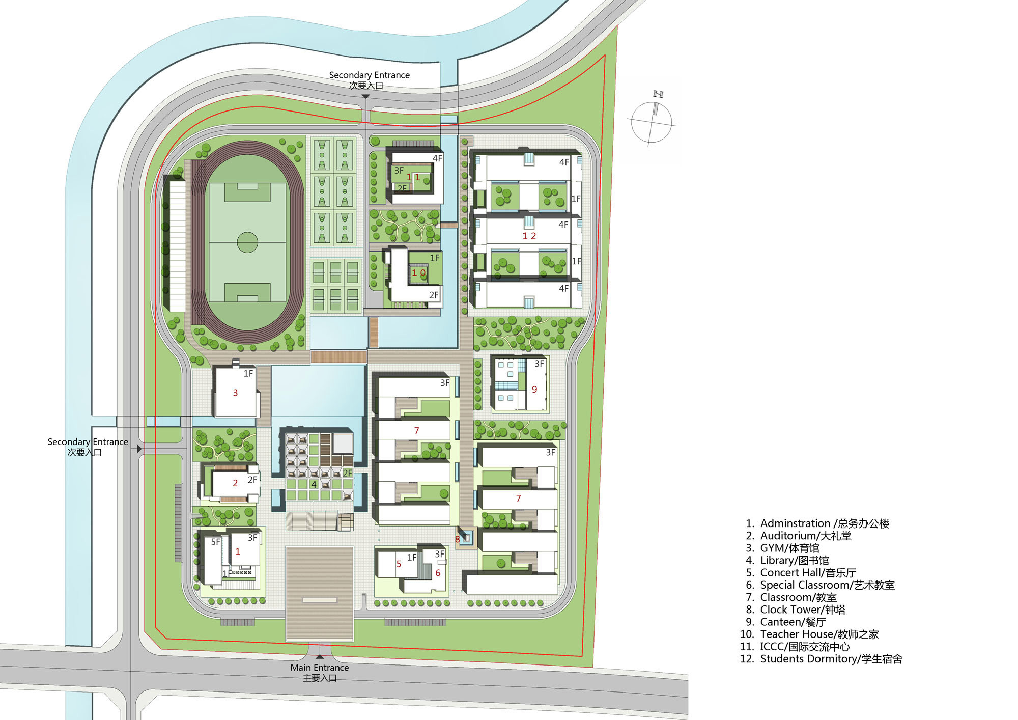 Gallery of Kunshan Middle School Proposal / United Design Group - 31