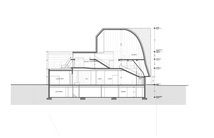 Section C - Courtesy of Steven Holl Architects