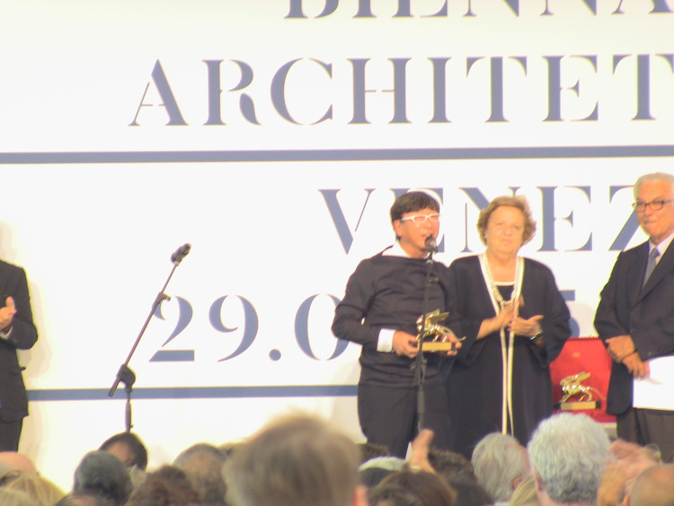 Toyo Ito, curator of the Japan Pavilion, winner of the Golden Lion for the National Pavilions
