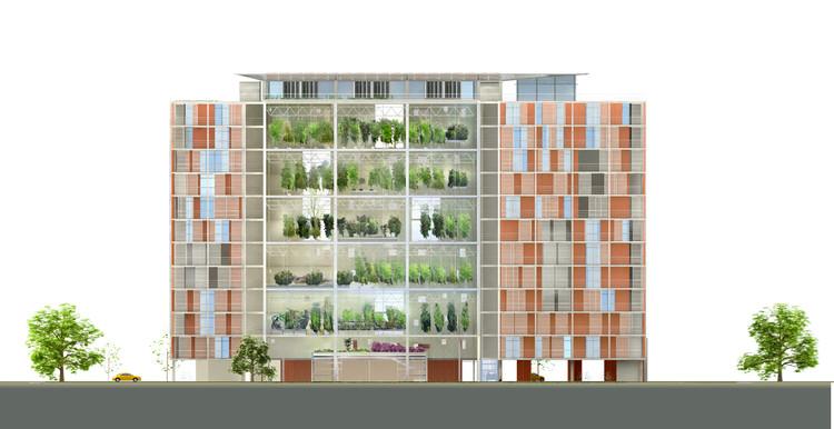 Elevation; Courtesy of Knafo Klimor Architects
